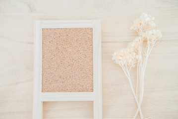 Wood cork board on wood texture background