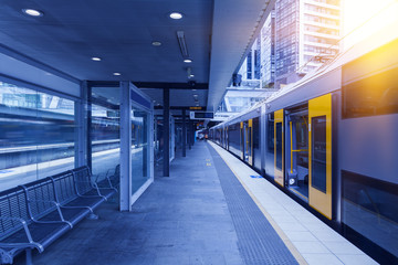 Printed kitchen splashbacks Train Station Sydney metro station
