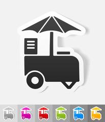 realistic design element. ice cream van