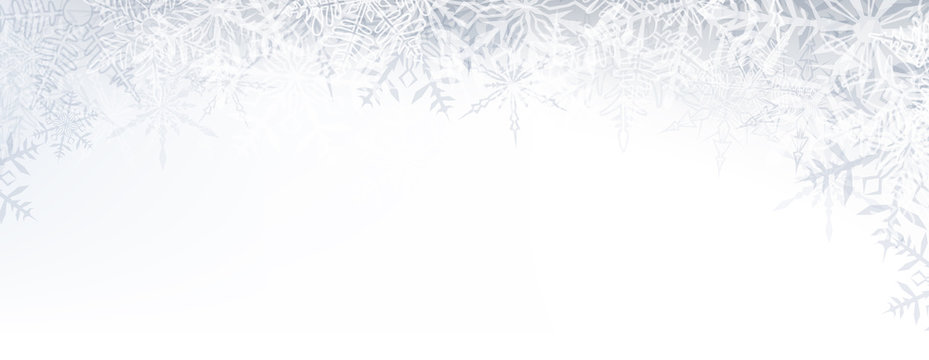 Christmas banner with crystallic snowflakes.