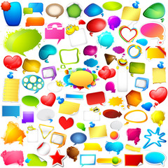 Colorful Chat and Speech bubble jumbo collection