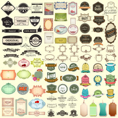 Vintage selling badge for premium quality jumbo collection