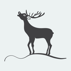 Deer label vector illustration
