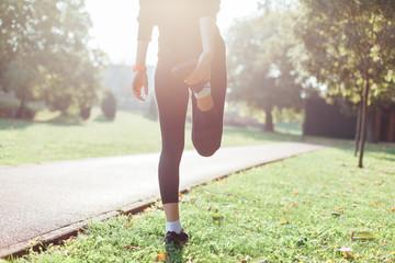Runner Warming Up Before Running