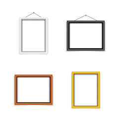 blank photo frame template set