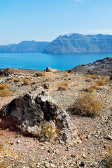 volcanic in europe  greece sky  sea