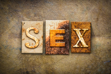 Sex Concept Letterpress Leather Theme