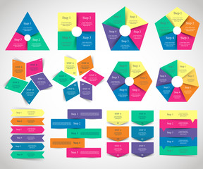 Collection of infographic templates for business