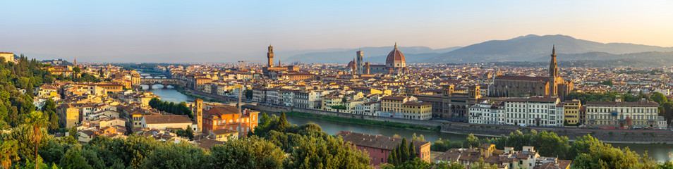 Photo Blinds Tuscany Florence city skyline panorama - Florence - Italy