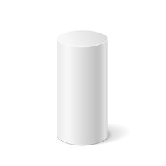 White 3D cylinder