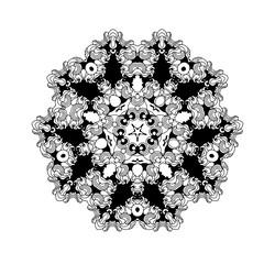 Mandala. Vector ethnic oriental circle ornament. Monochrome colors. Vector design.