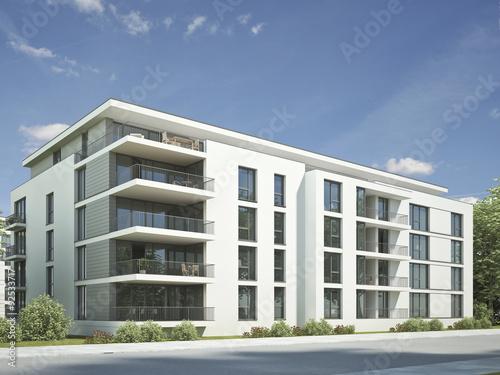 Mehrfamilienhaus modern weiss stockfotos und lizenzfreie for Mehrfamilienhaus modern