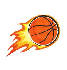 flaming basket ball