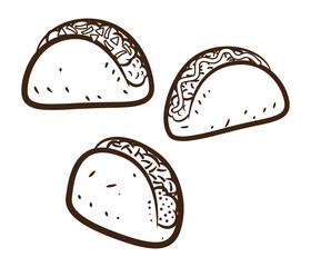 set of tacos
