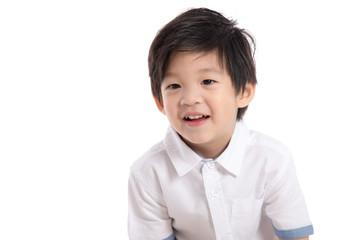 Close up happy little asian boy