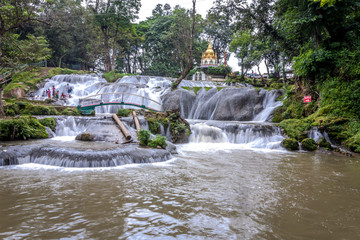 Pyin Oo Lwin ,Pagoda over waterfall ,Myanmar