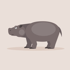 Hippopotamus. Vector Illustration