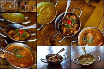 Indian Cuisine Collage