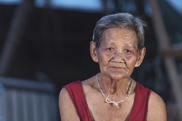 Smiling elderly people in thailand