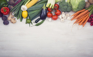 Healthy vegetables hero header
