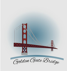 Golden gate bridge graphic illustration