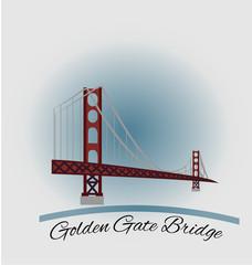 Golden gate bridge graphic illustration