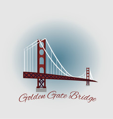 Golden Gate Bridge vintage design