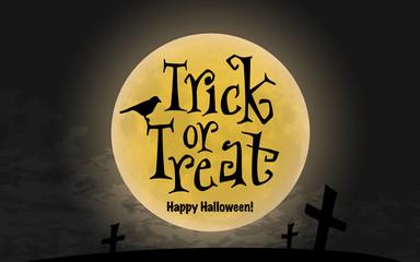 Trick or Treat. Halloween Poster. Vector illustration.