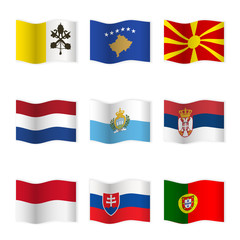 Waving flags of different countries 7