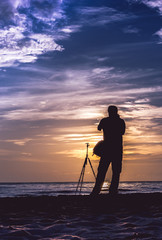 The beauty of the sunrise light Is a favorite of photographers.