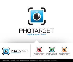 Photo Target Logo Template Design Vector