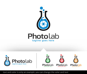 Photo Lab Logo Template Design Vector