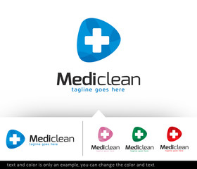 Medic Clean Logo Template Design Vector