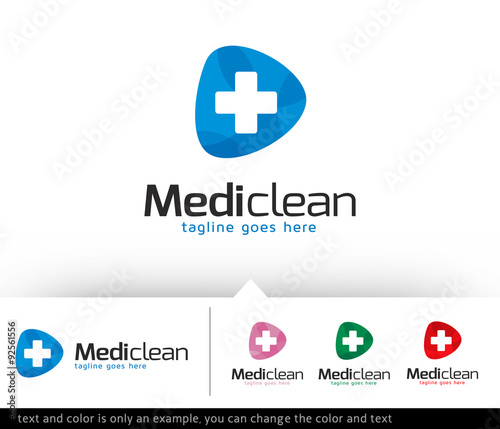 medic clean logo template design vector stock image and royalty