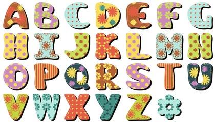 scrapbook alphabet on white background