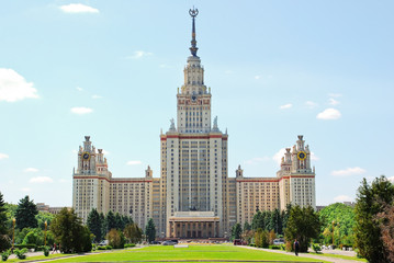 The main building of Moscow state University. M. V. Lomonosov Moscow state University on Vorobyovy Gory