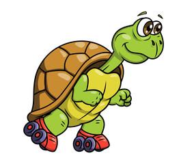 Turtle on roller skates 2