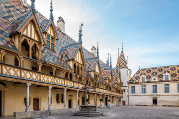 Courtyard of Hospices de Beaune