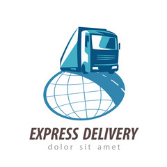 delivery vector logo design template. transportation or truck