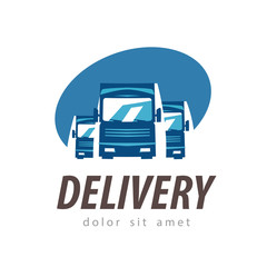 delivery vector logo design template. truck or transport icon