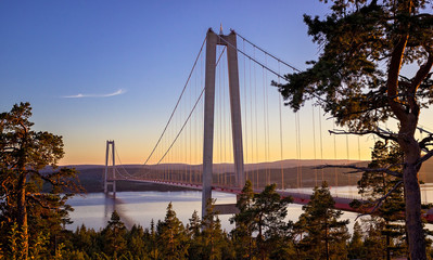 Högakustenbron - Bridge - Sweden - Sunset