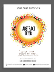 Abstract flyer, template or banner design.