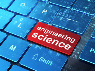 Science concept: Engineering Science on computer keyboard