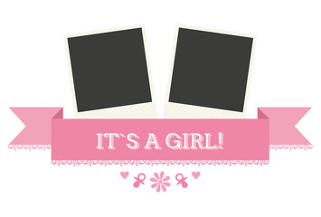 "Sweet Graphic for Birth ""It`s a Girl"""
