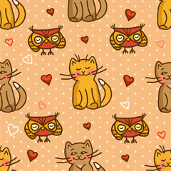 cute valentines seamless background