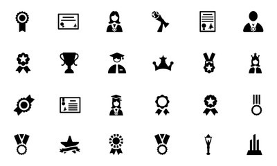 Award and Medal Vector Icons 4