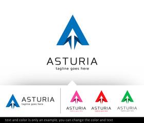 Asturia Letter A Logo Template Vector Design