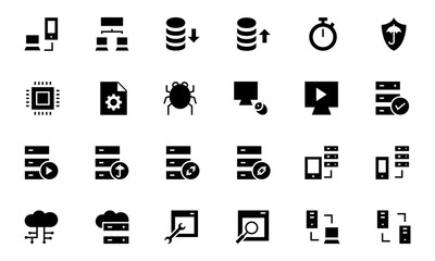 Database and Server Vector Icons 4