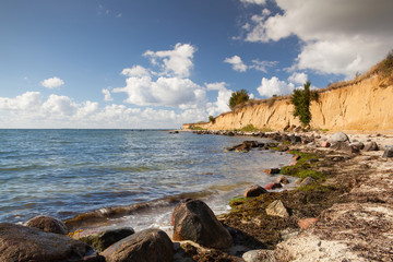 On the dramatic coast of the Batlic Sea, Ruegen Island