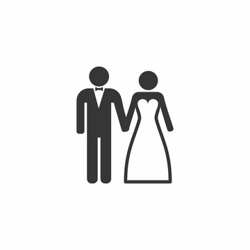 Wedding Married couple Icon. Bride and Groom.
